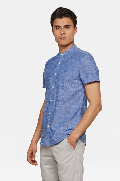 Heren slim fit overhemd Felblauw
