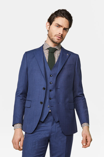 Heren regular fit blazer Matera Marineblauw