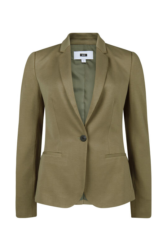 Dames regular fit jersey blazer Lichtgroen