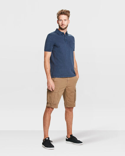 BERMUDA TAPERED RELAXED FIT CARGO HOMME Brun