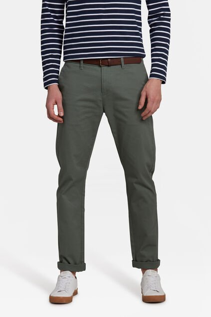 HEREN SKINNY FIT CHINO Lichtgroen