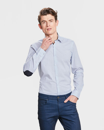 HEREN SLIM FIT STRETCH OVERHEMD Lichtblauw