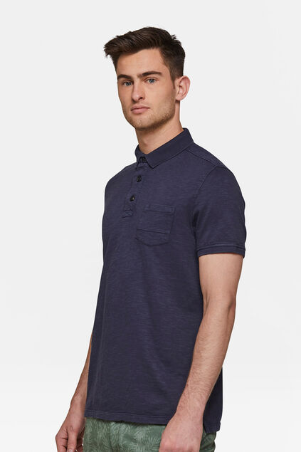 Heren polo Donkerblauw