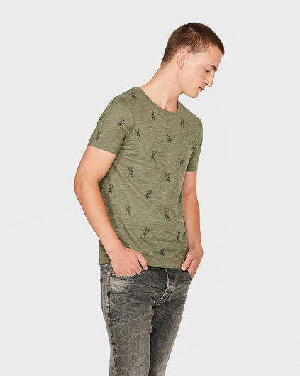 HEREN PEACE PRINT T-SHIRT Legergroen