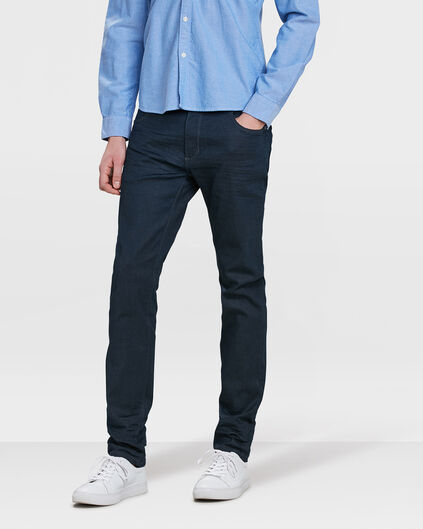 HEREN SLIM TAPERED SUPER STRETCH JEANS Marineblauw