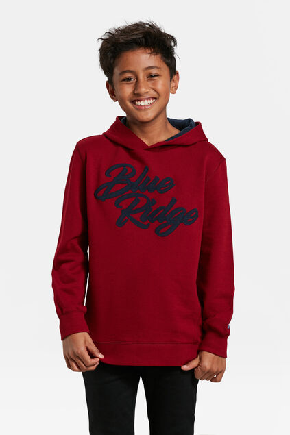 JONGENS BLUE RIDGE CAPUCHONSWEATER Bordeauxrood