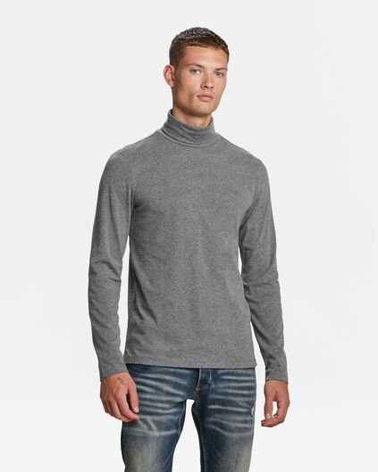 HEREN BLUE RIDGE TURTLE NECK T-SHIRT Donkergrijs gemeleerd