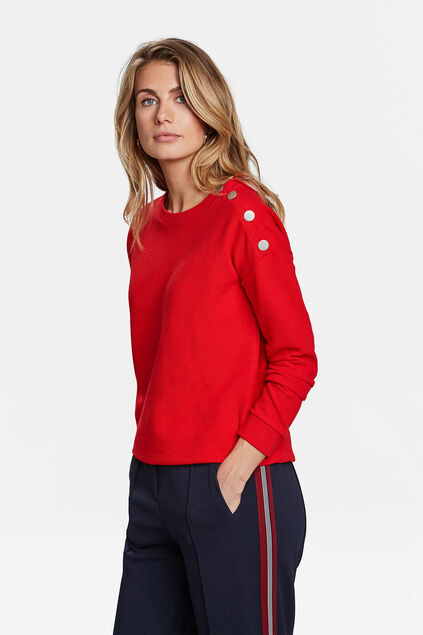 DAMES STRUCTUUR SWEATER Rood