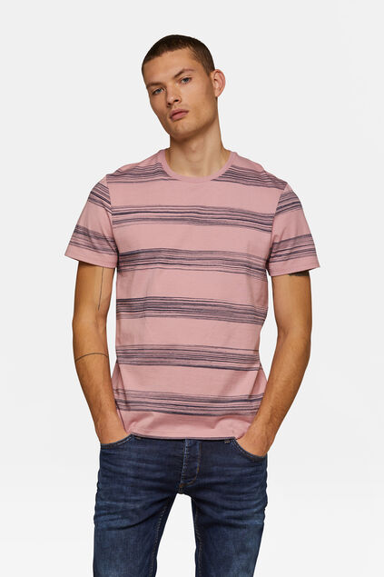T-shirt rayé homme Rose