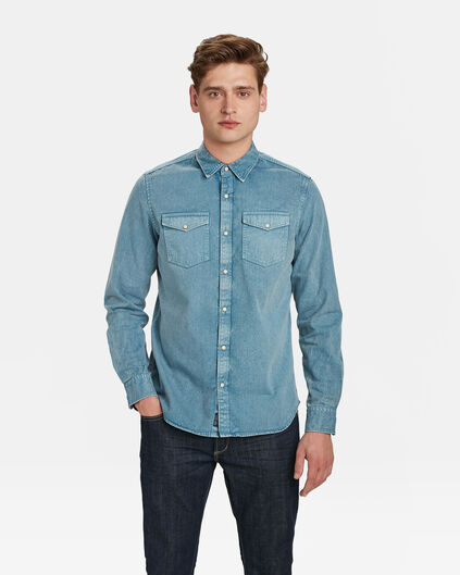 HEREN REGULAR FIT DENIM OVERHEMD Lichtblauw