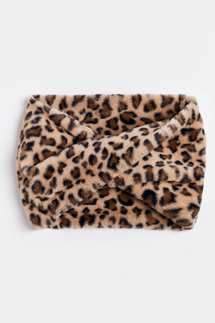 Meisjes fake fur colsjaal All-over print