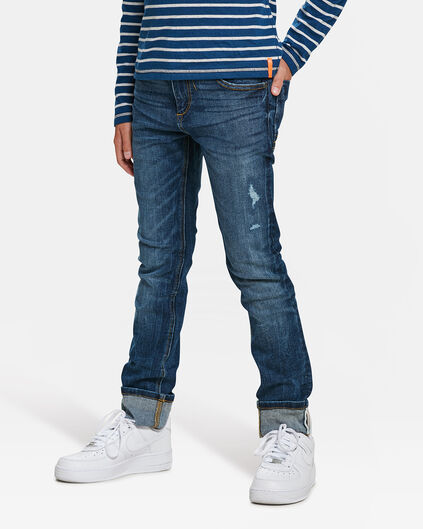 JONGENS SKINNY FIT POWERSTRETCH JEANS Blauw