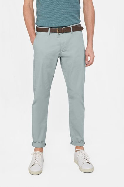 Chino slim fit homme Vert clair