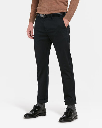 HEREN SLIM FIT CHINO Zwart