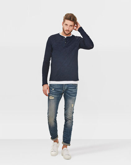 HEREN SKINNY TAPERED SUPER STRETCH JEANS Lichtblauw