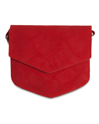 DAMES SUEDE POPPY RED TAS Rood