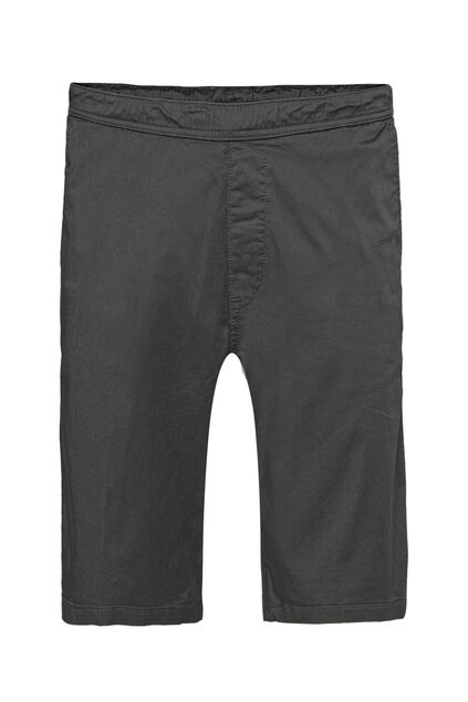 Heren regular fit chinoshort met stretch Donkergrijs