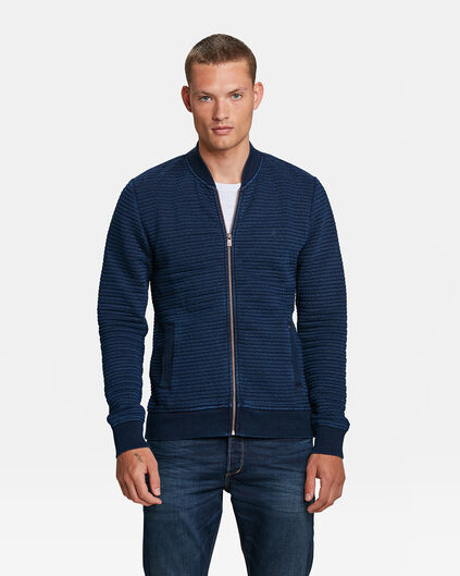 HEREN BLUE RIDGE INDIGO SWEAT JACKET Marineblauw
