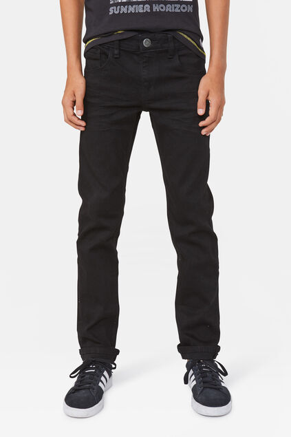 Jongens regular fit superstretch jeans Zwart