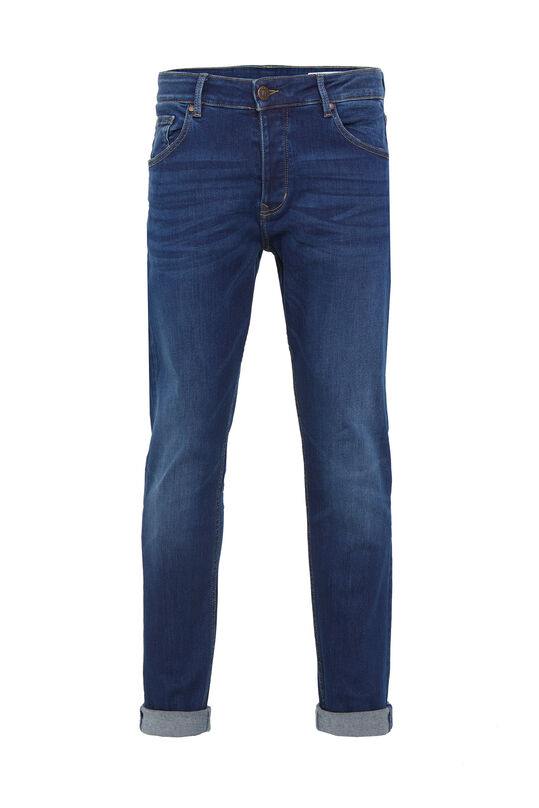 Heren tapered fit jog denim jeans Donkerblauw