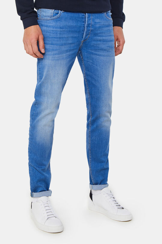 Heren skinny jeans met super stretch Blauw
