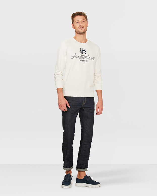 SWEATER BLUE RIDGE AMSTERDAM HOMME Blanc