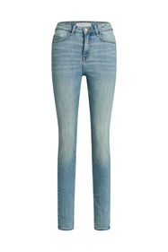 Dames high rise skinny jeans met stretch_Dames high rise skinny jeans met stretch, Blauw