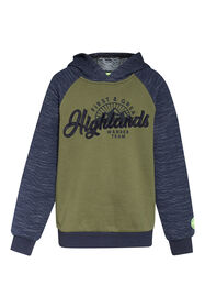 Jongens highlands sweater_Jongens highlands sweater, Legergroen