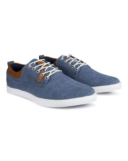 Heren canvas sneakers Blauw