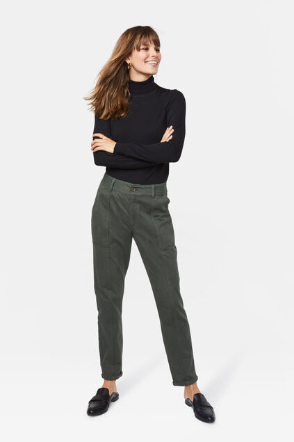 Pantalon cargo regular fit femme Vert