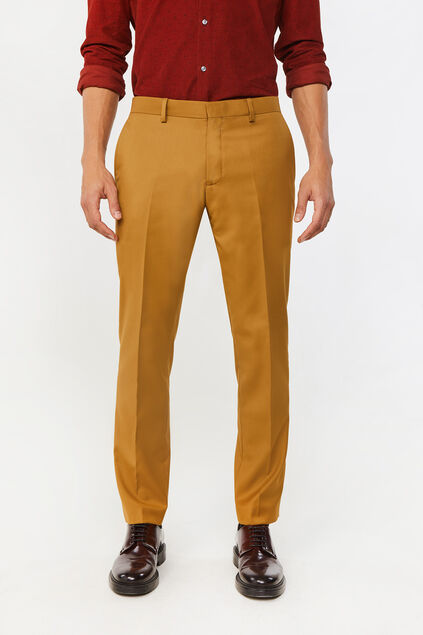 Pantalon slim fit Dali homme Jaune moutarde