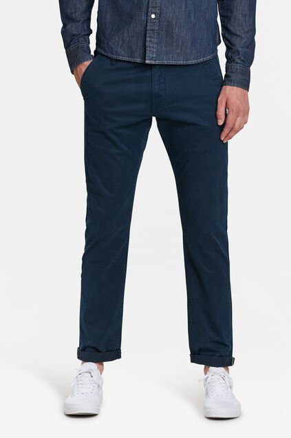 Heren slim tapered chino Marineblauw