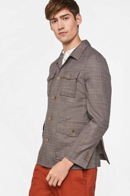 Heren slim fit meerkleurige blazer Multikleur