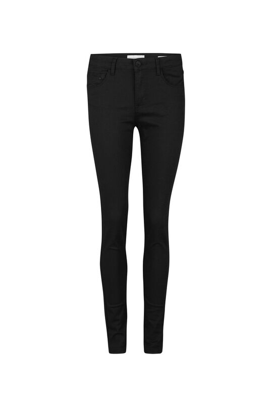 DAMES HIGH WAIST SKINNY HIGH STRETCH BROEK Zwart