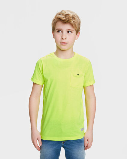 T-SHIRT ONE POCKET UNISEX KIDS Jaune vif