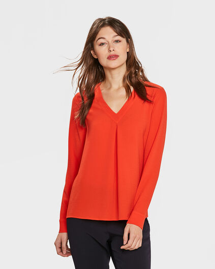 CHEMISIER BUTTON FEMME Orange