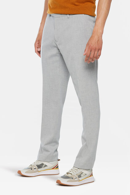 Heren regular fit dali pantalon Lichtgrijs