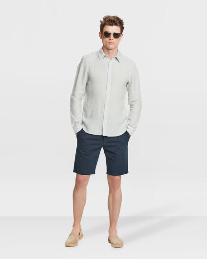 HEREN REGULAR FIT GARMENT DYED CHINO SHORT Marineblauw