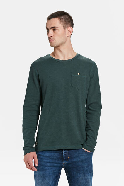 HEREN GERIBD T-SHIRT Groen