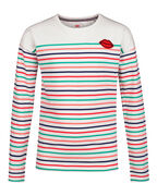 T-SHIRT STRIPED DESSIN FILLE_T-SHIRT STRIPED DESSIN FILLE, Blanc
