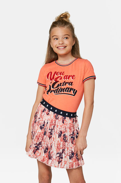 T-shirt fille Orange