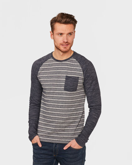 HEREN RAGLAN SLEEVE SHIRT Marineblauw