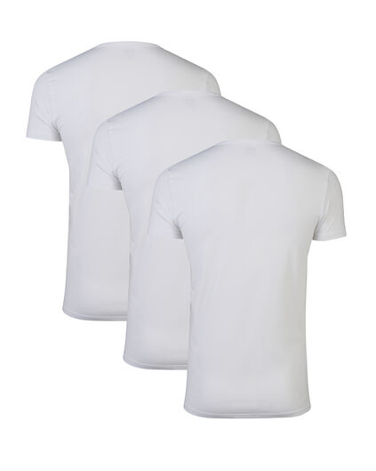 HEREN T-SHIRT 3-PACK Wit