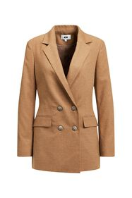 Dames loose fit double breasted blazer_Dames loose fit double breasted blazer, Caramel