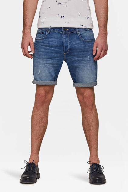 Heren regular fit short Lichtblauw