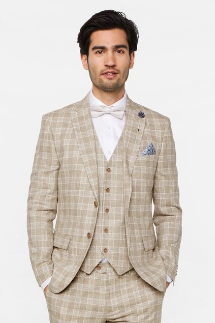 Heren slim fit geruite blazer Clinton All-over print