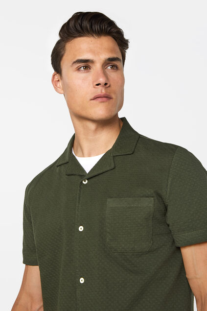Polo à structure homme Vert armee