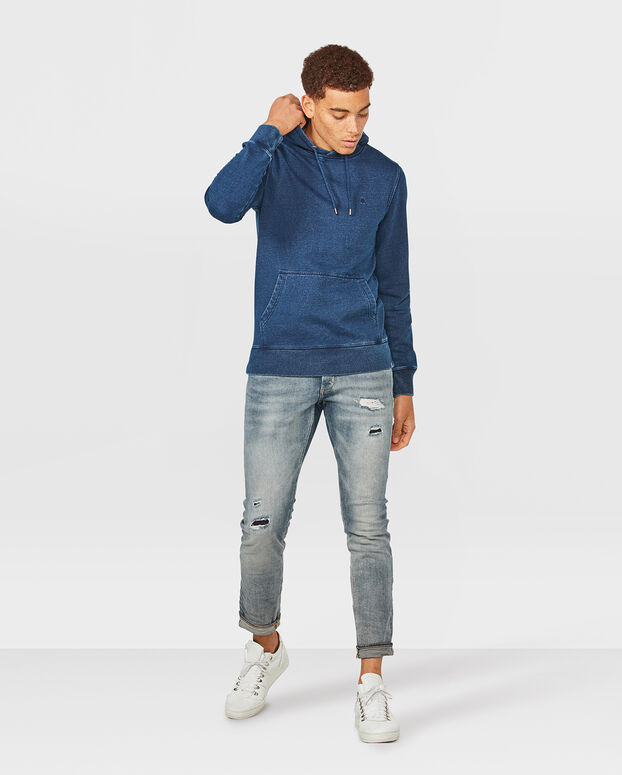 HEREN BLUE RIDGE DENIM LOOK SWEATER Indigo