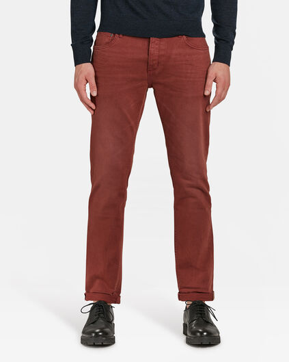PANTALON SLIM TAPERED HOMME Brun rouille