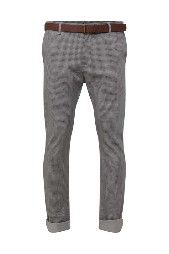 Heren skinny fit chino All-over print